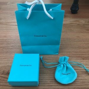 Tiffany's mini shopping bag, box and pouch.